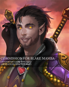 DnD commission - Blake Mamba