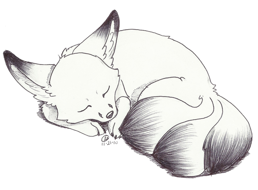 Une fleur aux cheveux roux - Page 2 Sleeping_kitsune_by_recipe4disaster-d33jyt9