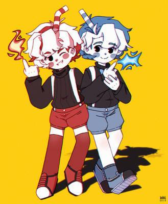 Cuphead Boys 2.0 by kobbii