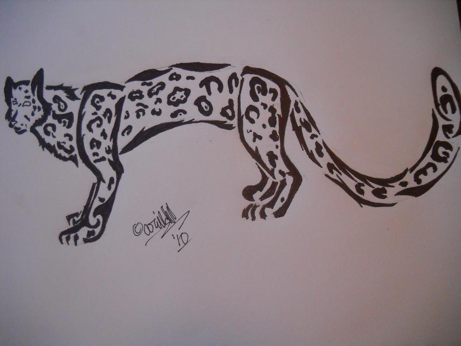 snow leopard tattoo by flashfireblue on deviantart. Black Bedroom Furniture Sets. Home Design Ideas