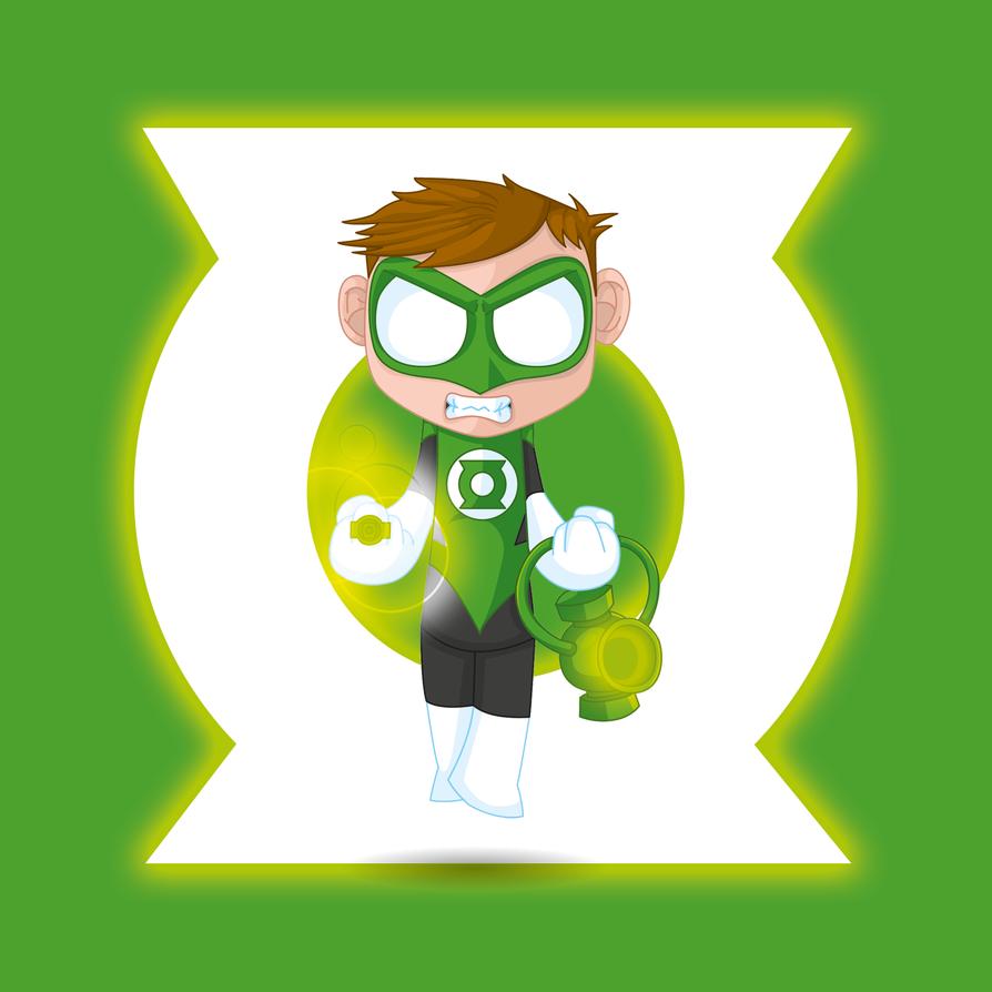 Green Lantern DC Comics by kalhaaan
