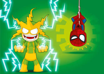Electro and Spidey Marvel by kalhaaan