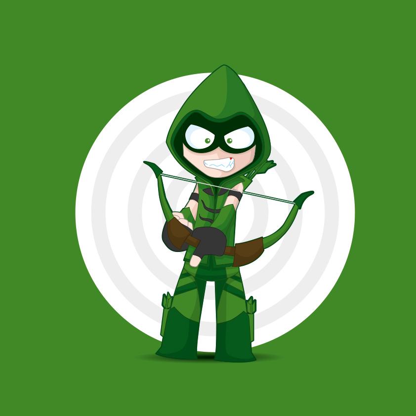 Green arrow DC Comics by kalhaaan