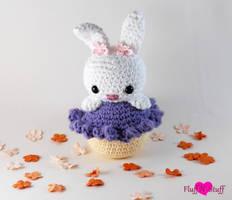 Cupcake Bunny Amigurumi by SailorMiniMuffin