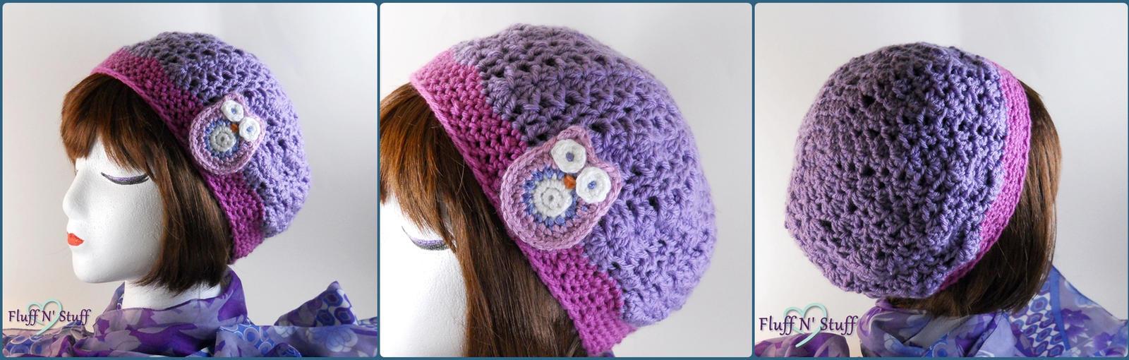 Kawaii Owl Crochet Hat by SailorMiniMuffin