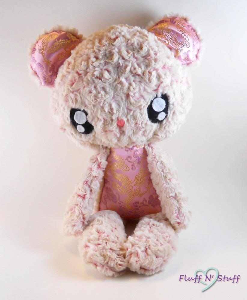 Kawaii Fluffy Bear Plush by SailorMiniMuffin