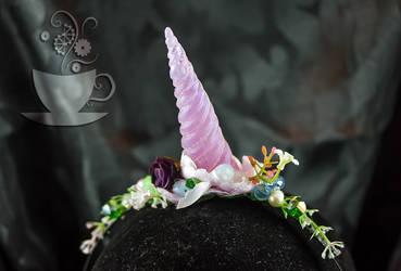 floral unicorn closeup by Tariray