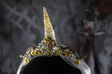 Royal Unicorn Queen Horn closeup
