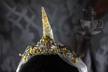 Royal Unicorn Queen Horn closeup by Tariray