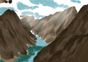 Mountain Landscape Study by Punished-Kom