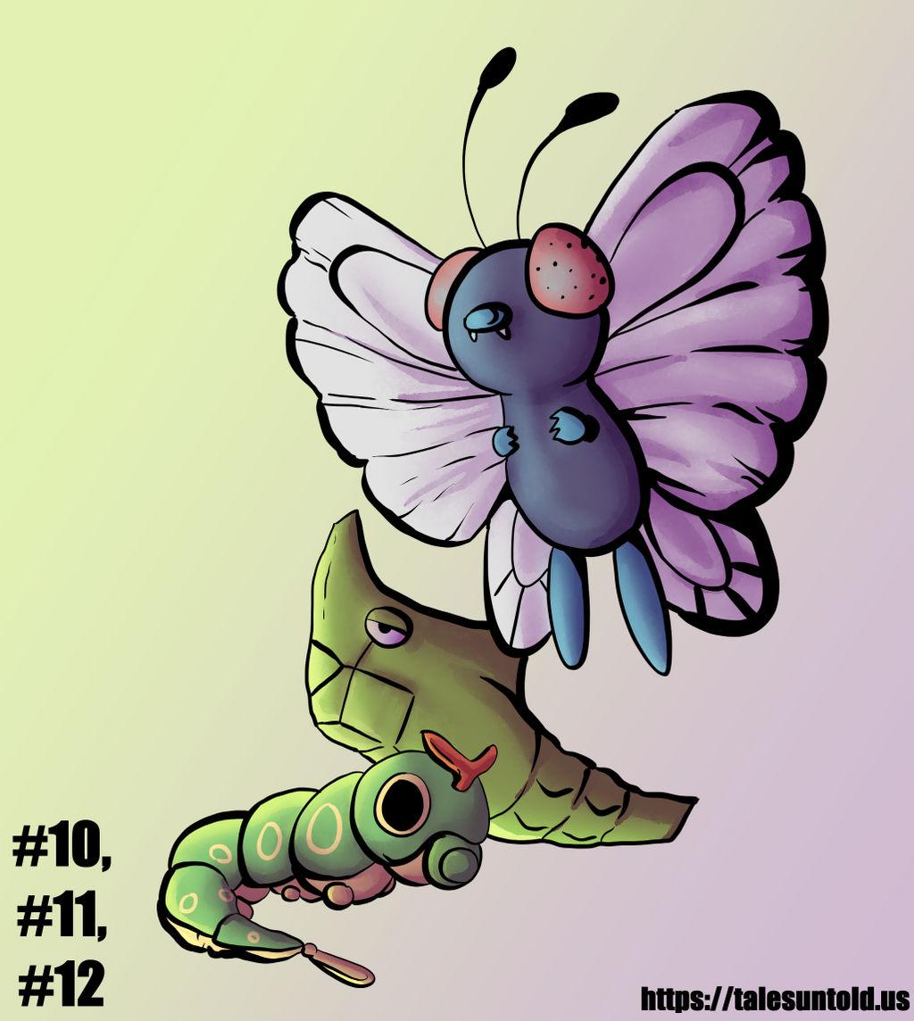 Caterpie Family - Gotta Draw 'Em All #10-12 by Punished-Kom