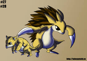 Sandshrew Family- Gotta Draw 'Em All by Punished-Kom