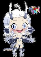 Saber the Silver Dragon - MHFAP! Chibi by Punished-Kom
