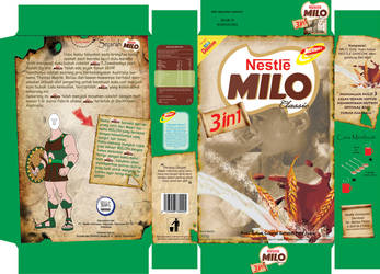 redesign packaging MILO 3 in 1 by yazzmustbecrazy