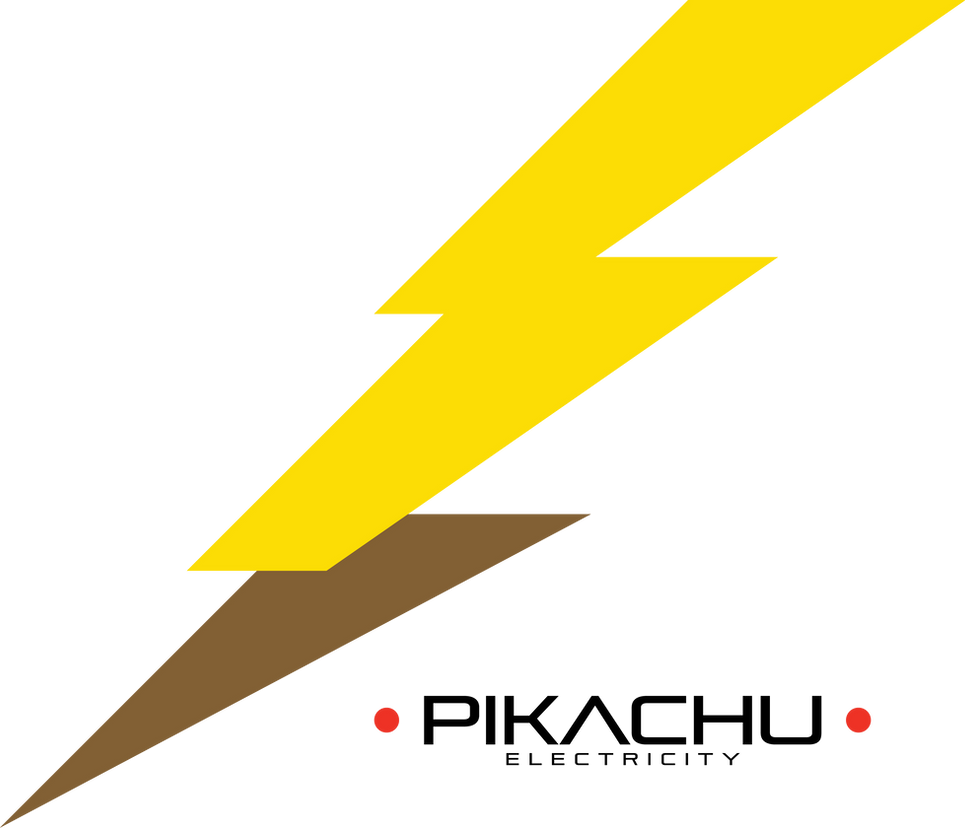 pikachu electricity logo by blueowldesign on deviantart