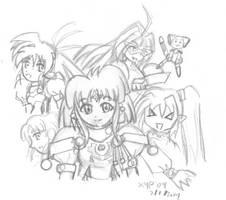 Yuri and gang-desu by XypherZX