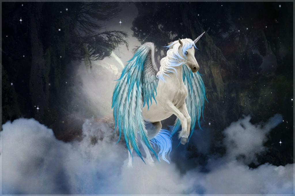 Mystic Blue Pegasus/Unicorn