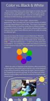 Color vs. Black and White Shading Tutorial by ZabbyTabby