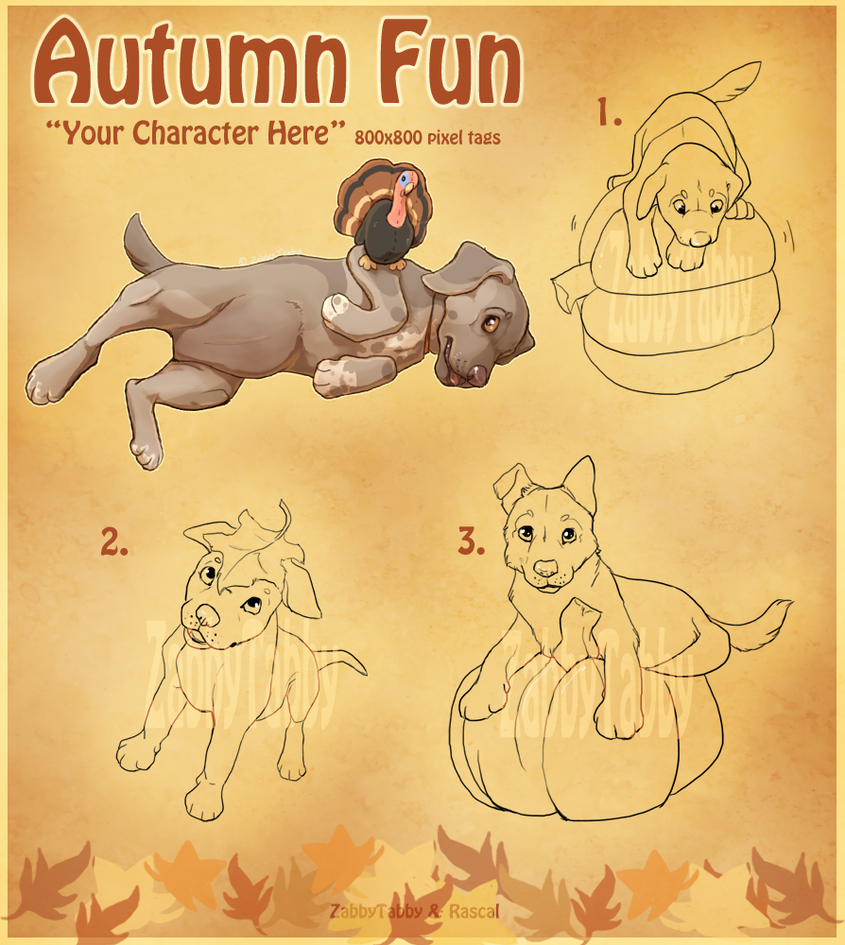 YCH-Autumn Theme-CLOSED by ZabbyTabby