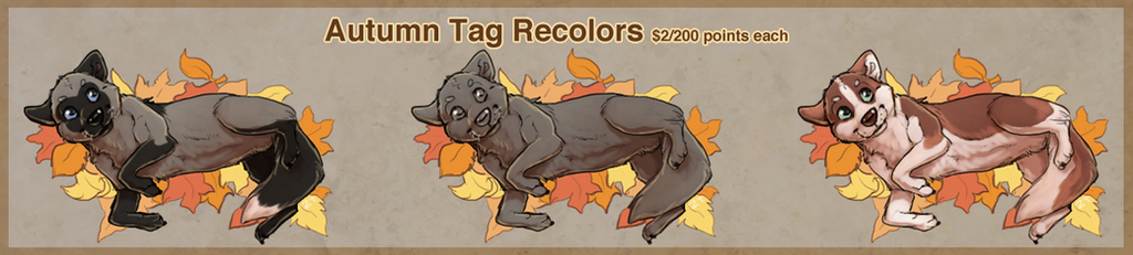 Autumn Tag Recolors! by ZabbyTabby
