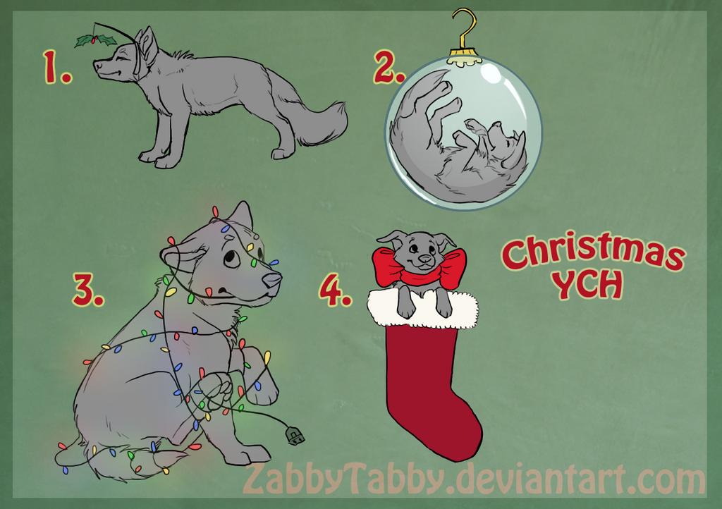 Christmas YCH by ZabbyTabby