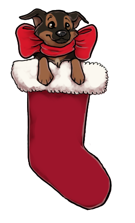Theres a dog in my stocking by ZabbyTabby