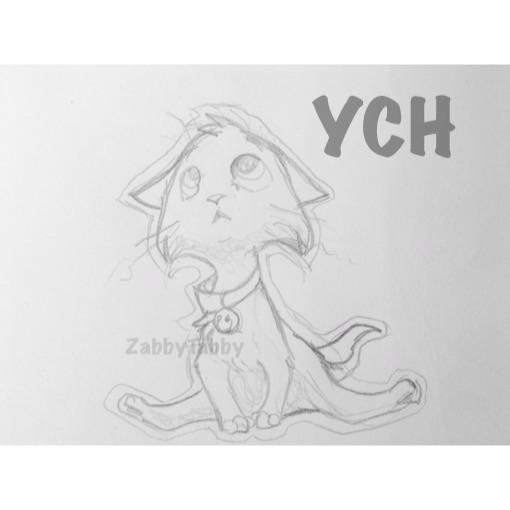 Timid Kitty YCH by ZabbyTabby