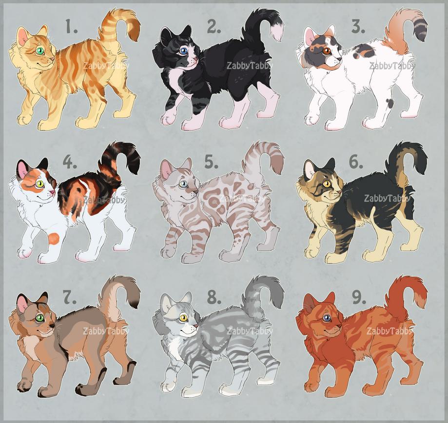 Kitten Adopts-OPEN by ZabbyTabby