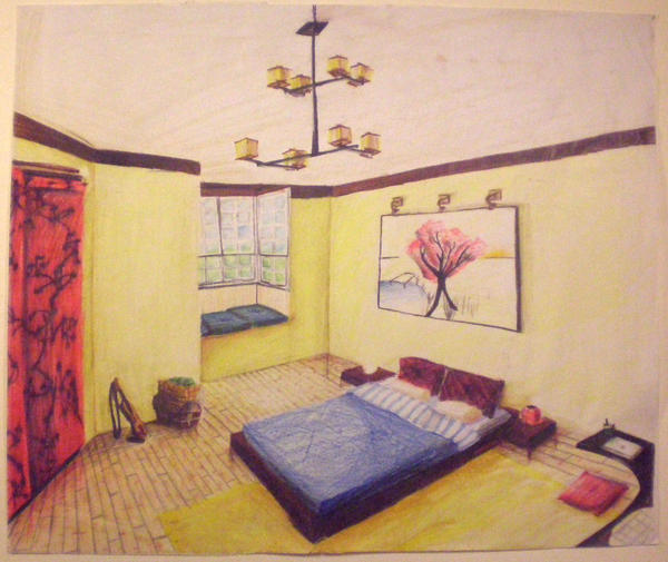 Japanese inspired bedroom by videlsd on deviantart - Japanese inspired bedroom ...
