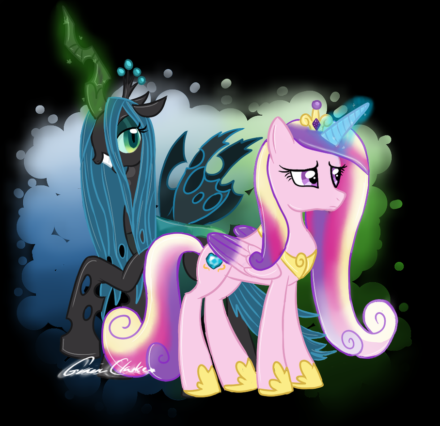 Princess Cadence and Queen Chrysalis by scr3aam3r on ... Queen Chrysalis X Princess Cadence