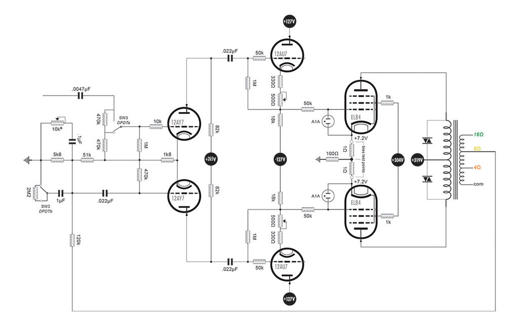 Effects of cathode bypass capacitor on output stage overdrive