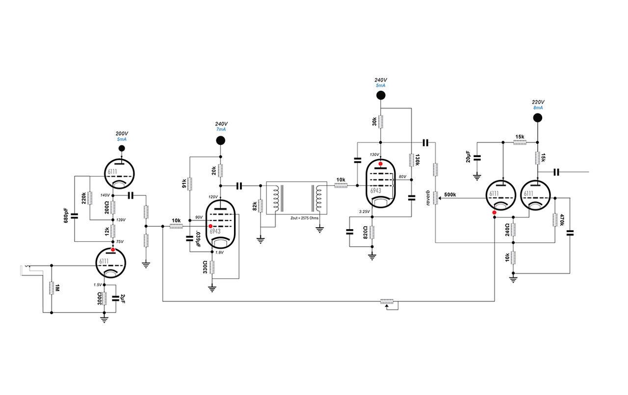 subminiature spring reverb schematic v2 by soulfetish on deviantart  deviantart