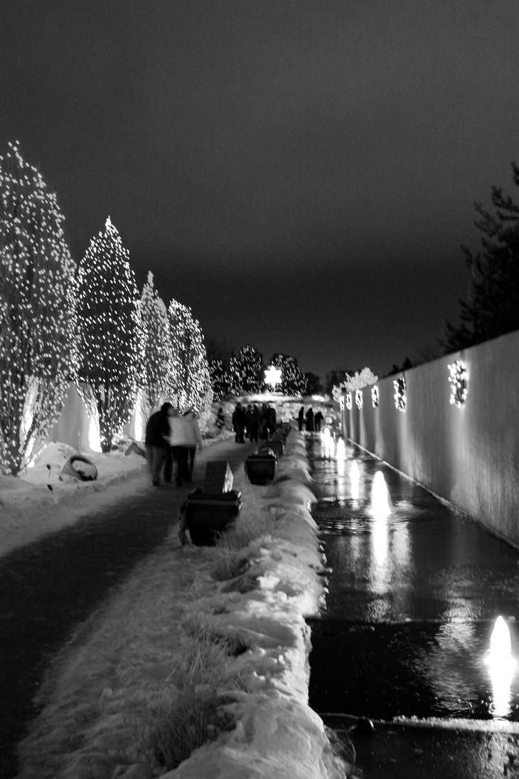 Black and White Christmas by whitedragoneyes