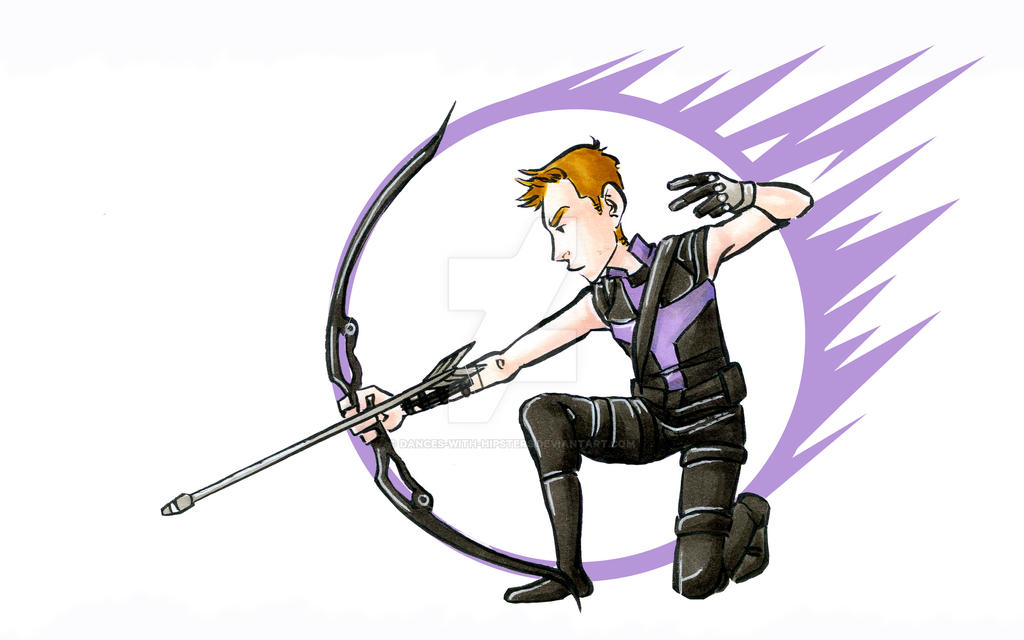 Avengers Hawkeye by dances-with-hipsters