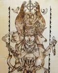Totem Animals by FuocoRupestre