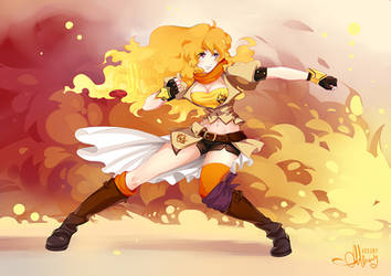 Commission Yang Xiao Long RWBY FanArt For Gendalph by Arkuny