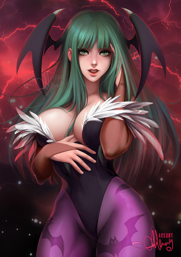 Morrigan Aensland (NSFW on Gumroad) by Arkuny