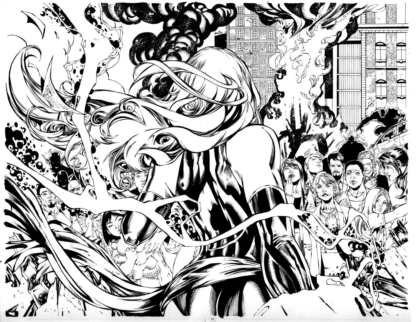 Line Art Marvel : Miss marvel pg inks by mariah benes on deviantart