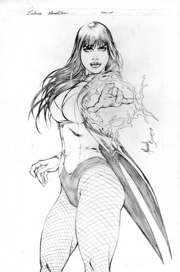 The Women Of Dc Comics Ink In Adam Withers S Dc Comics: Zatanna Pin-Up Commission By Mariah-Benes On DeviantArt