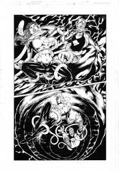 Teen Titans 85 pg 08 Inks by Mariah-Benes