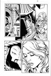 Wonder Girl Page 05 Inks by Mariah-Benes