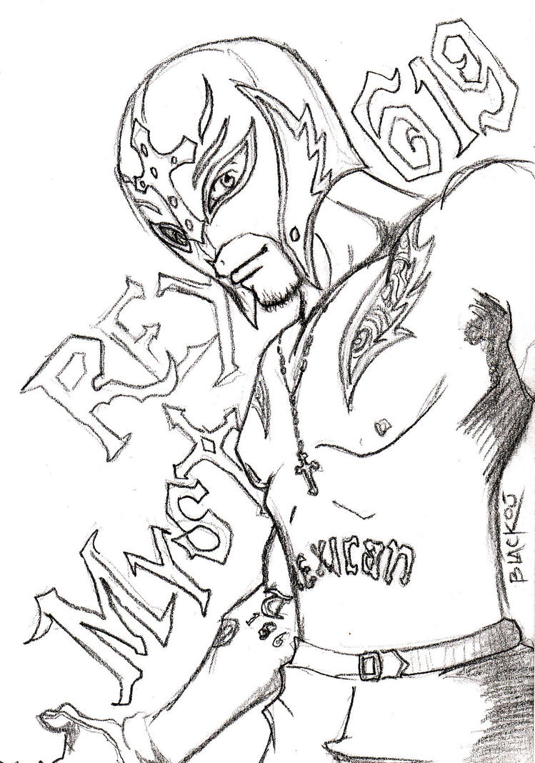 Rey Mysterio By 666blackout666 On Deviantart Mysterio Coloring Pages