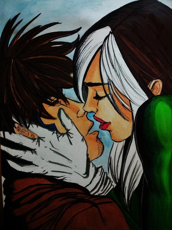 gambit and rogue kiss-#20