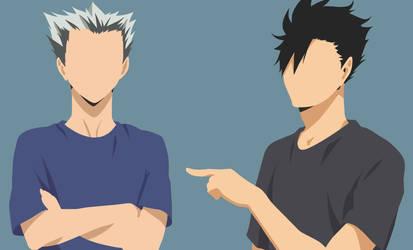 Bokuto Koutaro and Kuroo Tetsurou by nishincya