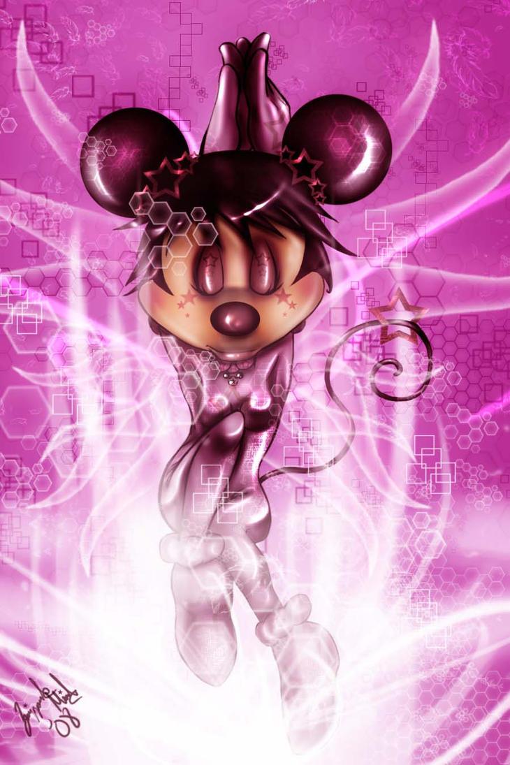 Purple Minnie Mouse Cake Topper