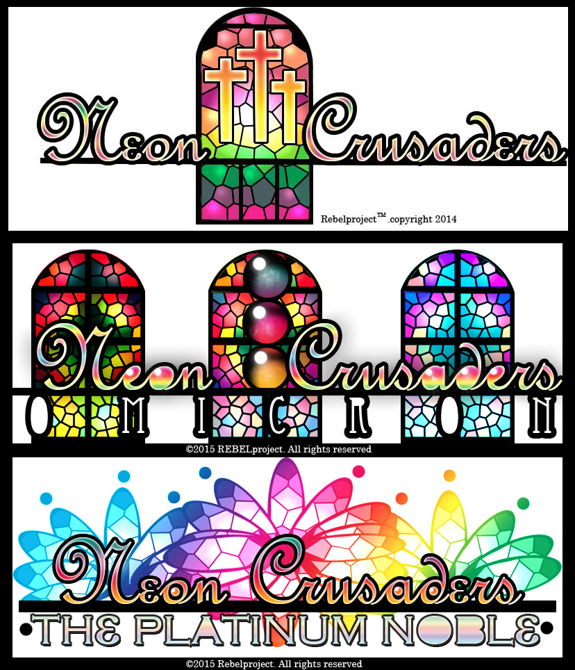 Neon Crusaders logo collection by cherry12