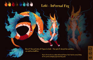 Loki - Infernal fox AUCTION [CLOSED]