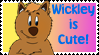 Wickley Wombat is cute Stamp by MagicalMerlinGirl