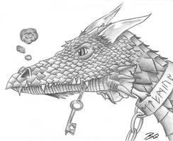 Key Guarding Dragon by MagicalMerlinGirl