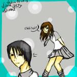 Simple Manga Girl and Boy